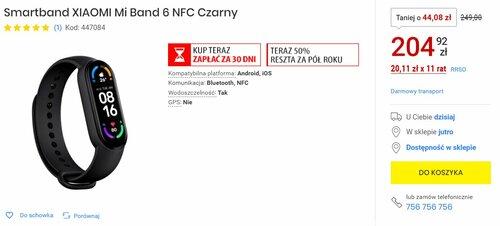 Promocja na Xiaomi Mi Smart Band 6 NFC