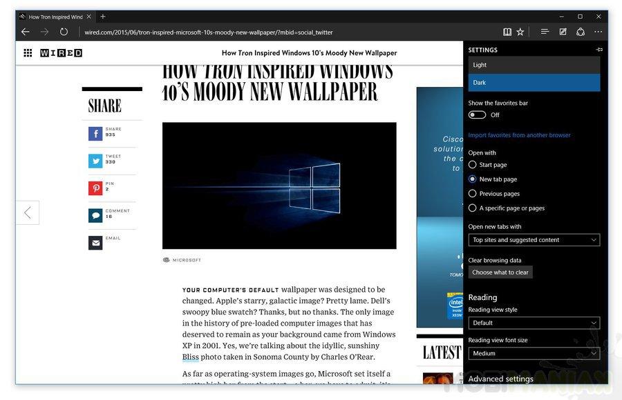 Dodano ciemny motyw w Microsoft Edge /fot. Microsoft