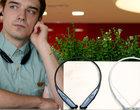 bezprzewodowe słuchawki CES 2016 dwa mikrofony headset rozmowy głosowe