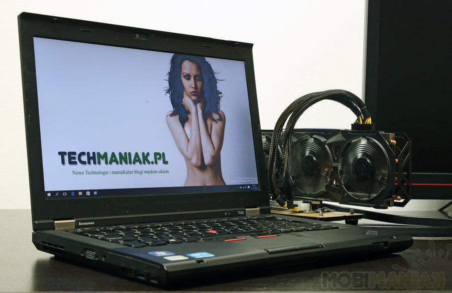 Lenovo T430 w zestawie z eGPU / fot. mobiManiaK.pl
