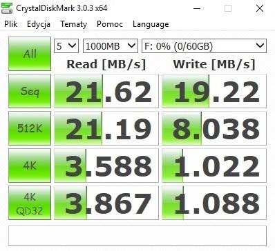 Test z próbką 1 GB / / fot mobiManiaK.pl