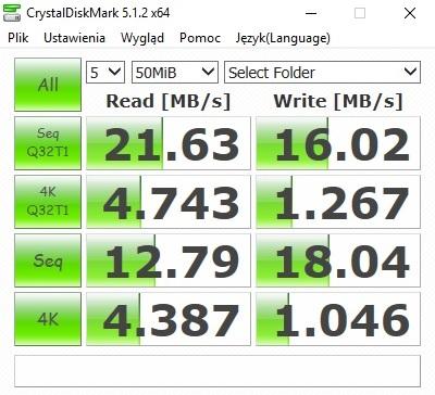 Test z próbką 50 MB / fot. mobiManiaK.pl