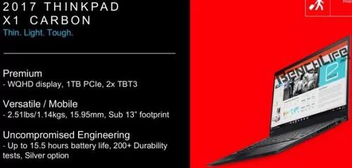 Nowy Lenovo ThinkPad X1 Carbon