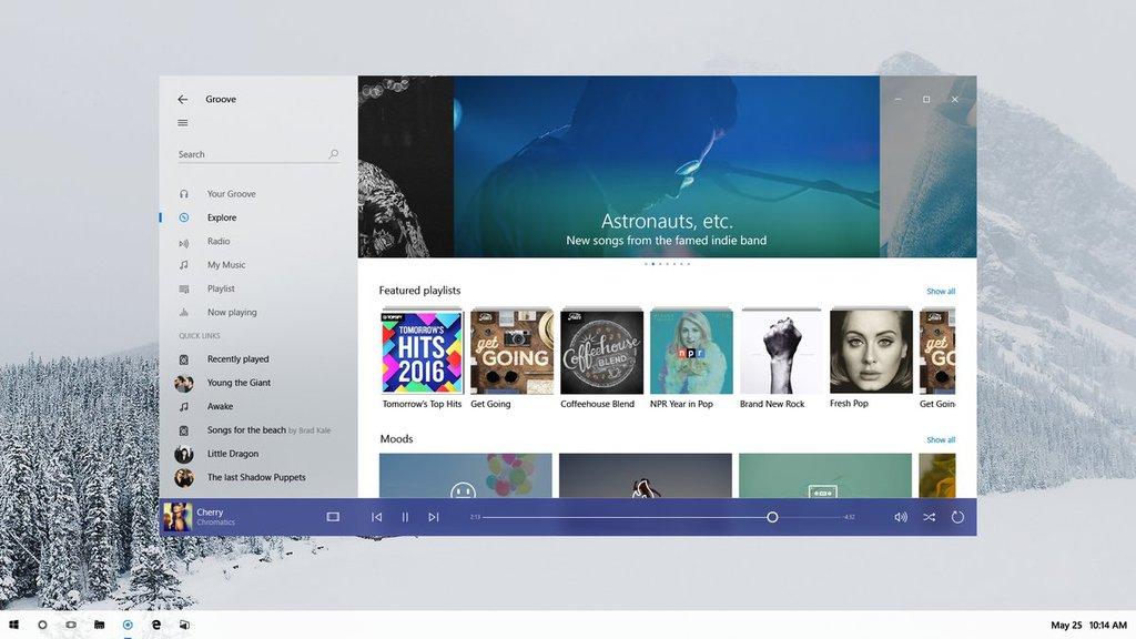 Project NEON w Windows 10 / fot. Tom Hounsell, Twitter.com