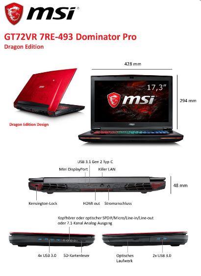 MSI GT72VR Dragon Edition 1 10