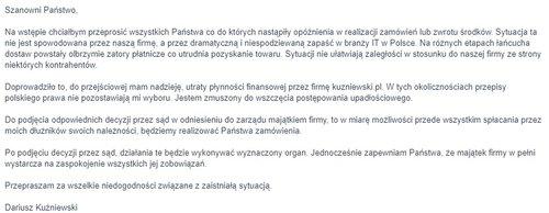 Oświadczenie Dariusza Kuźniewskiego za: wykop.pl
