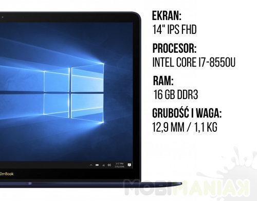Specyfikacja_ASUS ZenBook 3 Deluxe UX490