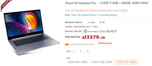Xiaomi Mi Notebook Pro/ fot. GearBest