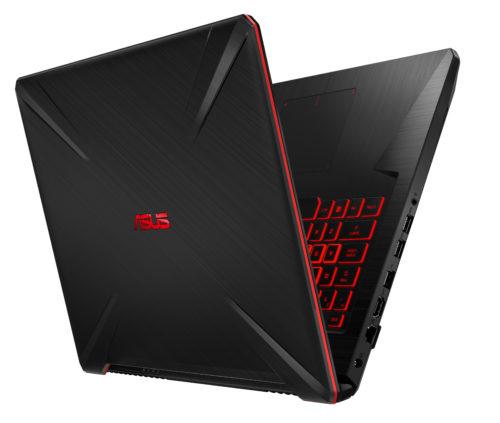 ASUS TUF Gaming FX705: efektowne, czerwone podświetlenie, które możemy zmienić na inny kolor / fot. mat. promocyjne