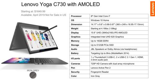Lenovo Yoga C730/fot. Lenovo