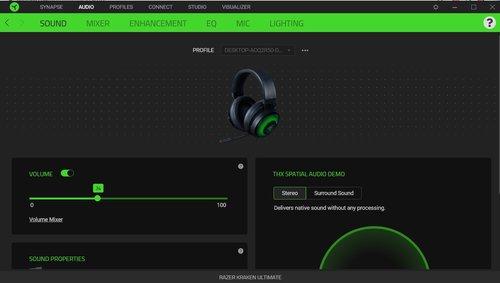 Razer Synapse: wykryte słuchawki