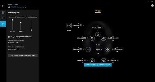 Logitech G Hub: dźwięk przestrzenny