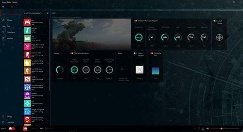 Sound Blaster Connect: ekran główny