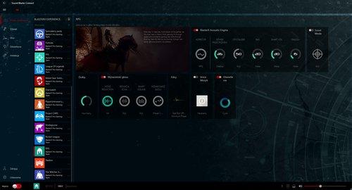 Sound Blaster Connect: ekran profilu RPG