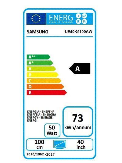 Etykieta Energetyczna K5100 / fot. Samsung