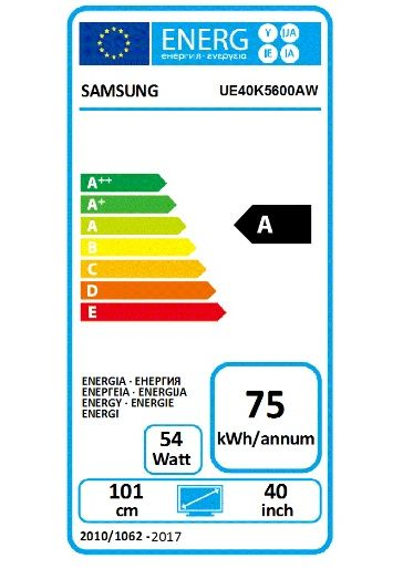 Etykieta Energetyczna K5600 / fot. Samsung