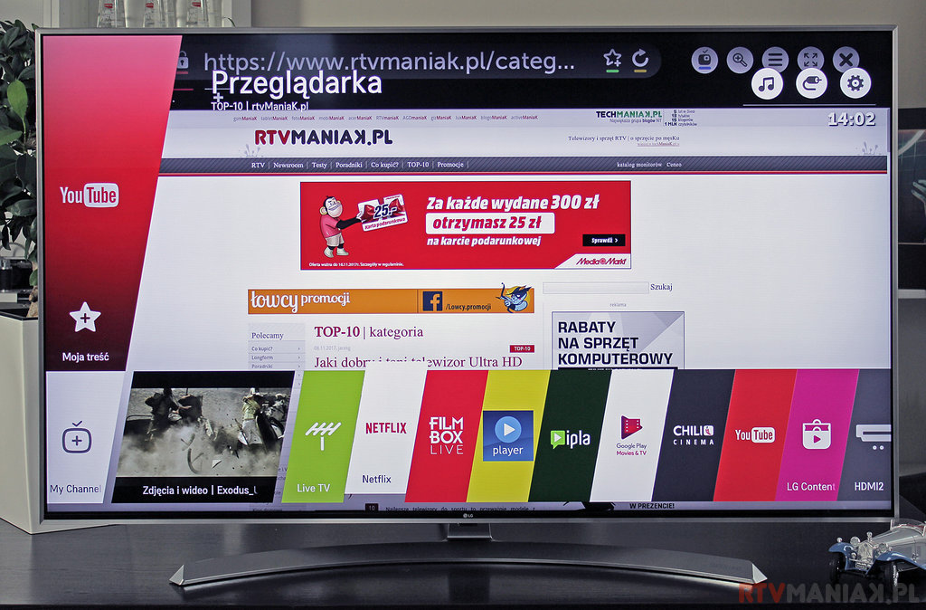 LG 55SJ810V / fot. rtvManiaK.pl