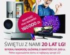 LG rozdaje prezenty z okazji 20 lat w Polsce