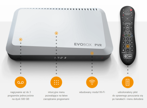 Dekoder Evobox PVR / fot. printscreen za stroną cyfrowypolsat.pl
