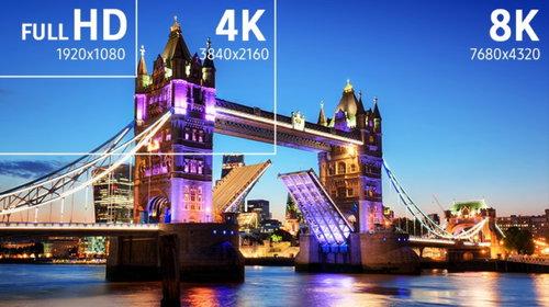 8K: porównanie do niższych rozdzielczości / fot. mat. promocyjne Samsung