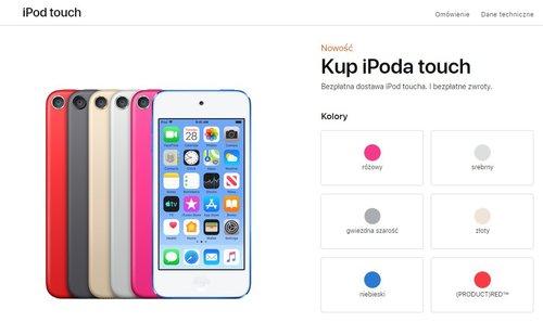 iPod touch 2019: dostępne kolory / fot. Apple