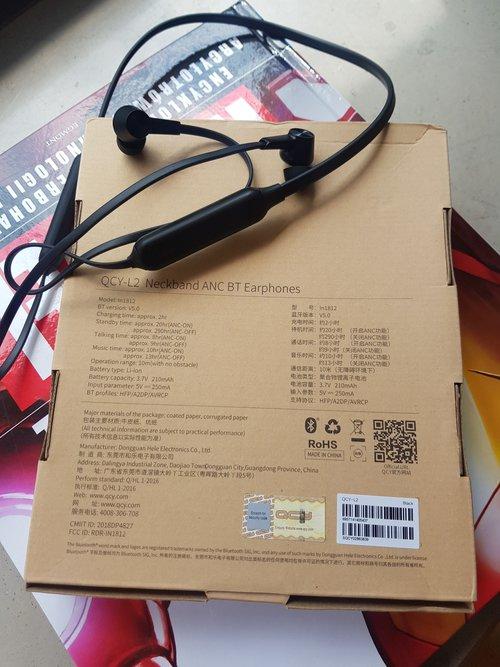 QCY L2: słuchawki i opakowanie / fot.TechManiaK