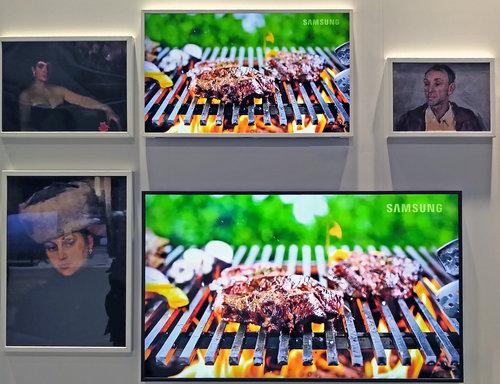 ... a panelem Samsunga w Trybie Ambient / fot. techManiaK.pl