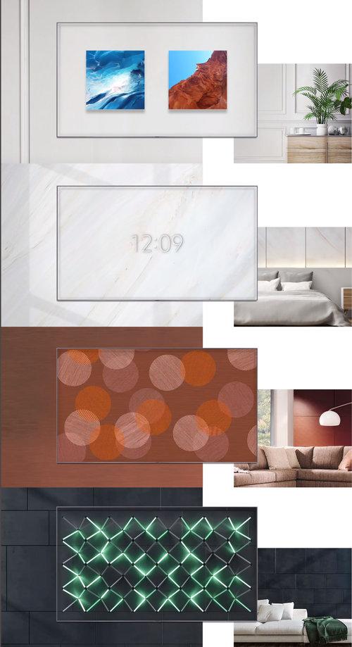 Przykładowe kompozycje prezentujące możliwości Trybu Ambient / fot. Samsung