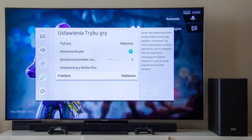 Ustawienia trybu Gra w telewizorze Samsung QE65Q90R / fot. techManiaK.pl