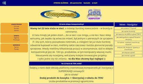 Podróż do przeszłości, czyli żarcik i design strony w stylu sprzed dwóch dekad / fot. Komputronik