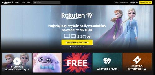Rakuten.tv: strona główna / fot. Rakuten.tv