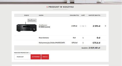 Yamaha MusicCast R-N602 screen / fot. Top Hi-Fi