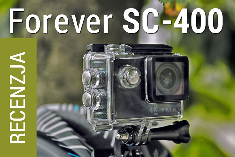 Forever SC-400. Kamera sportowa z Wi-Fi i filmowaniem w 4K -
