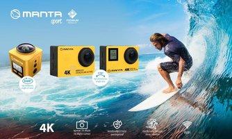 Manta prezentuje 3 modele kamerek sportowych 4K – 360ᵒ -