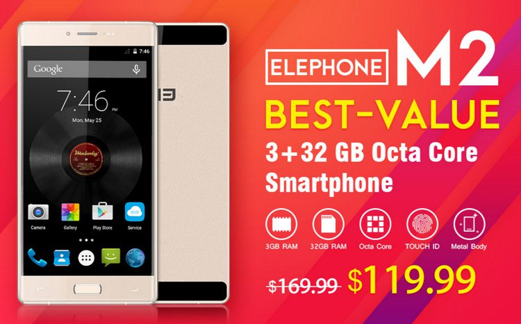 Elephone M2 oferuje sporo, wygląda ładnie i teraz kosztuje tylko 580 zł -