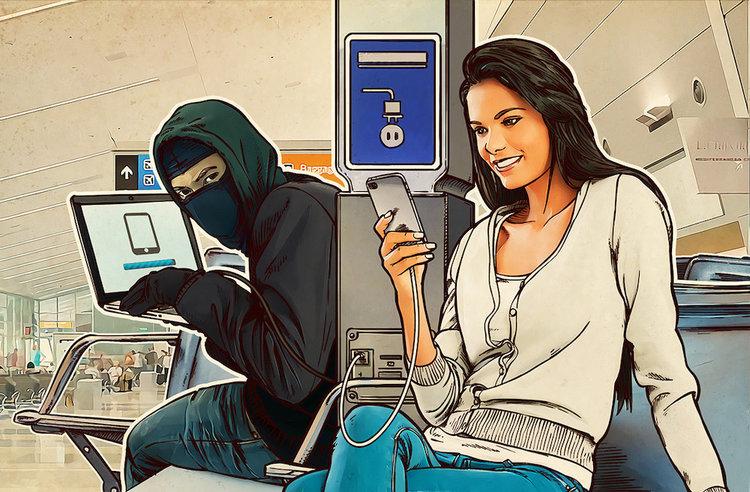 Ładujesz smartfona na lotnisku lub dworcu? To może się źle skończyć -