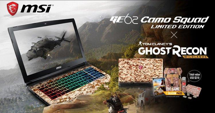 Kup notebooka MSI Camo Squad i odbierz pakiet dodatków o wartości ponad 400 zł -