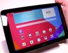 10.1-calowy wyświetlacz 4-rdzeniowy procesor LG G Pad 10 na wideo materiał wideo Snapdragon 400