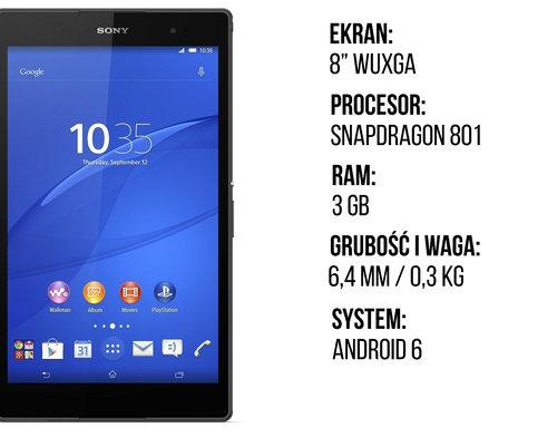 Sony Xperia Z3 Tablet Compact specyfikacja