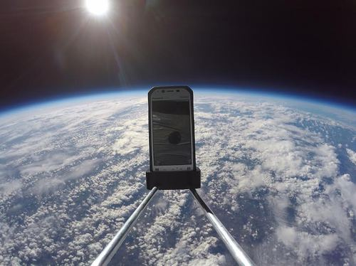 Toughpady wysłane do stratosfery / fot. informacje prasowe