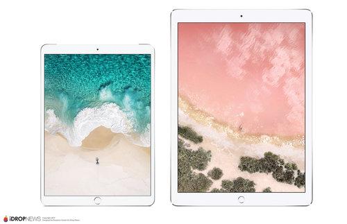 Render 10.5-calowego iPada Pro i 12.9-calowego iPada Pro 2 / fot. iDropNews