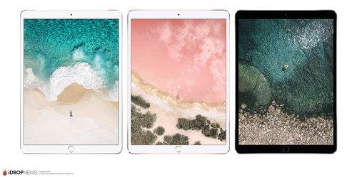Render 10.5-calowego iPada Pro w kolorach / fot. iDropNews