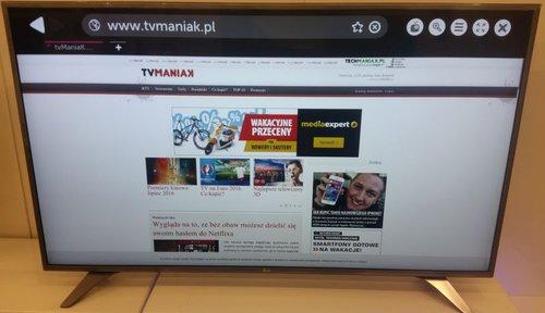 LG 55UH6507 / fot. tvManiaK