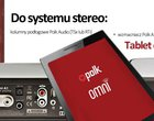 Wzmacniacze Polk Audio i Definitive Technology z tabletami w zestawie